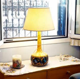 Rent accommodation on Ithaca, lamp and window