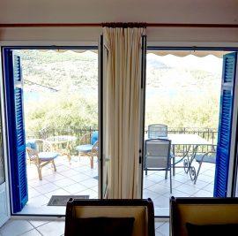 Rent accommodation on Ithaca, veranda