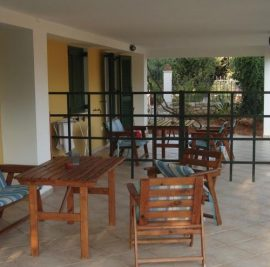 Accommodation on Ithaca, patio