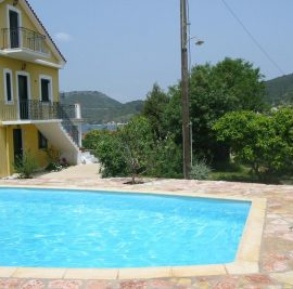 Accommodation on Ithaca, swimming pool
