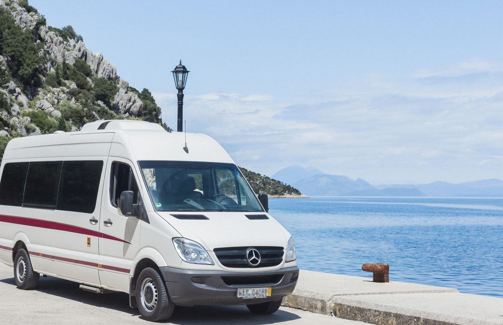 Bus Tours on Ithaca, Greece,