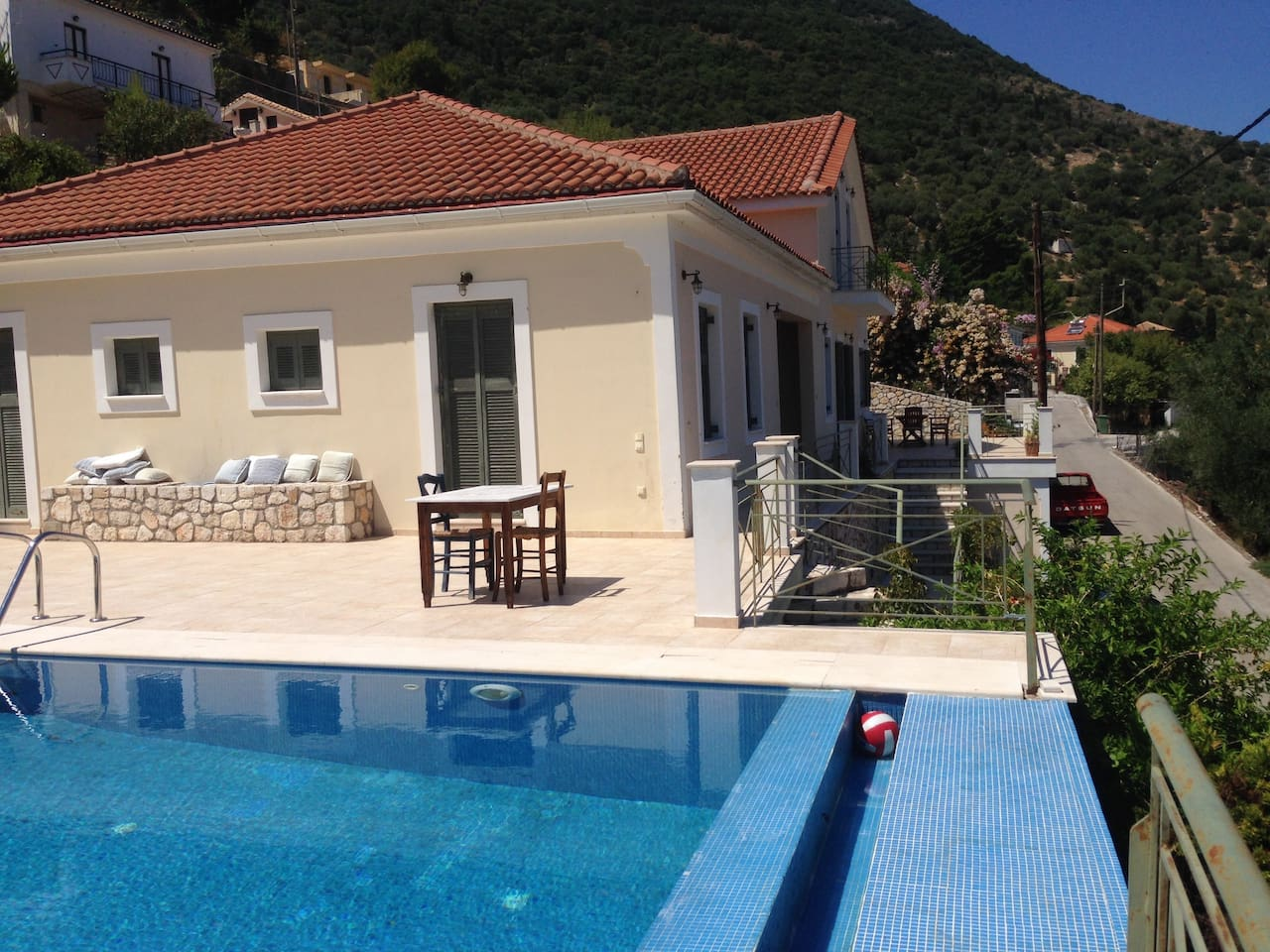 Book accommodation on Ithaca, swimming pool